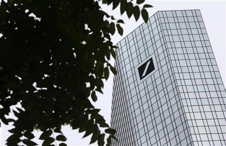 The headquarters of Deutsche Bank AG are pictured in Frankfurt July 23, 2010. REUTERS/Ralph Orlowski