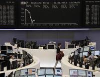 La sala operativa della borsa di Francoforte. REUTERS/Remote/Marte Kiesling