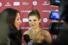"Director Lake Bell arrives for the premiere of the film ""In A World"" during the Sundance Film Festival in Park City, Utah, January 20, 2013. REUTERS/Lucas Jackson"