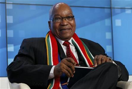 South Africa's President Jacob Zuma attends the annual meeting of the World Economic Forum (WEF) in Davos January 23, 2013. REUTERS/Pascal Lauener