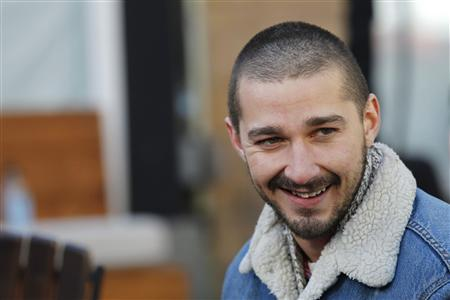 Actor Shia LaBeouf from the movie ''The Necessary Death of Charlie Countryman'' smiles during the Sundance Film Festival in Park City, Utah January 22, 2013. REUTERS/Mario Anzuoni