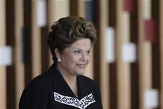 A presidente Dilma Rousseff participa de um evento no Palácio do Planalto, em Brasília, nesta quarta-feira. 23/01/2013 REUTERS/Ueslei Marcelino