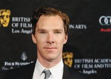 British actor Benedict Cumberbatch arrives at the British Academy of Film and Television Arts Los Angeles awards season Tea Party in Los Angeles, California, January 12, 2013. REUTERS/Gus Ruelas
