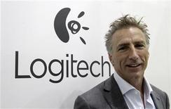 Logitech president Bracken Darrell poses before a Reuters interview during the opening day of the IFA consumer electronics fair in Berlin, August 31, 2012. REUTERS/Tobias Schwarz