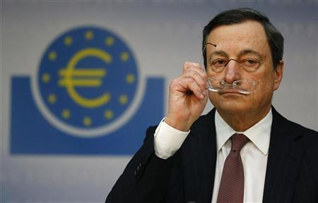 Mario Draghi, President of the European Central Bank (ECB), addresses the media during his monthly news conference in Frankfurt, January 10, 2013. REUTERS/Kai Pfaffenbach