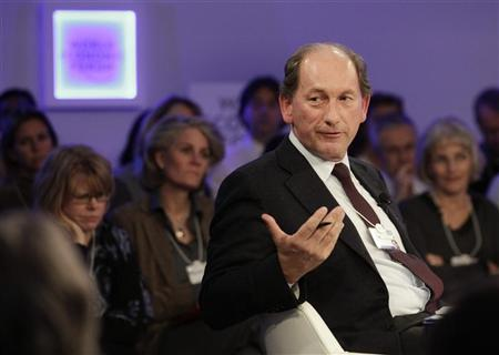 Nestle CEO Paul Bulcke attends the annual meeting of the World Economic Forum (WEF) in Davos January 23, 2013. REUTERS/Denis Balibouse