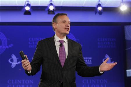 Barclays PLC Chief Executive Antony Jenkins speaks during the first day of the Clinton Global Initiative 2012 (CGI) in New York, September 23, 2012. REUTERS/Lucas Jackson
