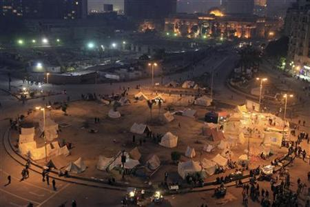 A general view of anti-Mursi protesters gathering at Tahrir Square in Cairo January 21, 2013. REUTERS/Mohamed Abd El Ghany