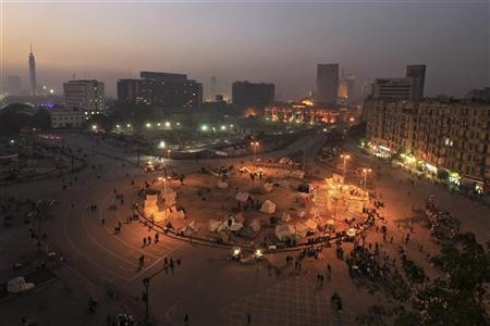 A general view of anti-Mursi protesters gathering at Tahrir Square in Cairo January 21, 2013. Egyptians will mark the second anniversary of Egypt's revolution on January 25. REUTERS/Mohamed Abd El Ghany