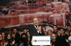 Prime Minister and Nationalist Party leader Lawrence Gonzi addresses an electoral campaign rally in the village of Xaghra, on the Maltese island of Gozo, January 19, 2013. REUTERS/Darrin Zammit Lupi