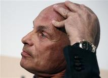 Гендиректор швейцарского трейдера Gunvor Торбьорн Торнквист на деловом саммите в Лозанне 24 апреля 2012 года. Gunvor, некогда доминировавший на нефтяном рынке РФ, ищет возможности на нефтегазовом рынке США, сказал Торнквист в интервью Рейтер. REUTERS/Denis Balibouse