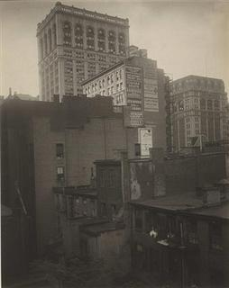A gelatin silver print titled ''From the Back Window - ''291'' - N.Y., Summer 1914'' by photographer Alfred Stieglitz is shown in this handout photo provided by Christie's Auction House in New York January 24, 2013. REUTERS/Alfred Stieglitz/Georgia O'Keefe Museum/Artists Rights Society (ARS), New York/Handout
