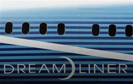 The 787 Dreamliner sits outside the Boeing assembly plant in Everett, Washington, in this July 8, 2007 file photo. REUTERS/Robert Sorbo/Files