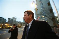 California hedge fund manager trader Doug Whitman exits the Manhattan Federal Courthouse in New York, following his sentencing, January 24, 2013. REUTERS/Brendan McDermid