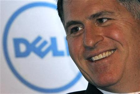 Dell Inc. founder and chief executive Michael Dell smiles during a business conference organised by the Federation of Indian Chambers of Commerce and Industry (FICCI) in New Delhi March 22, 2011. REUTERS/B Mathur