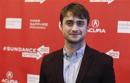Cast member Daniel Radcliffe poses at the premiere of ''Kill Your Darlings'' during the Sundance Film Festival in Park City, Utah January 18, 2013. REUTERS/Mario Anzuoni