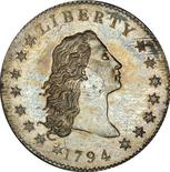 A Flowing Hair Silver Dollar, the first silver dollar struck by the United States Mint is pictured in this undated handout photo obtained by Reuters January 24, 2013. REUTERS/Stack's Bowers Galleries/Handout