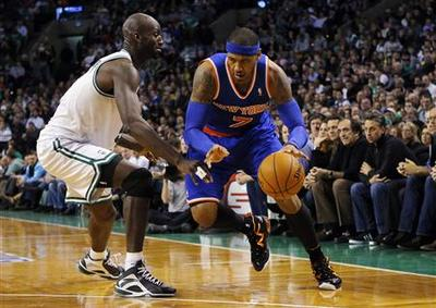 Anthony fires Knicks to win over Celtics
