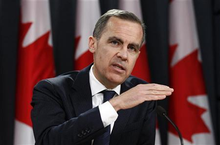 Bank of Canada Governor Mark Carney speaks during a news conference upon the release of the Monetary Policy Report in Ottawa January 23, 2013. REUTERS/Chris Wattie