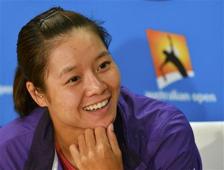 Li Na of China speaks during a news conference at the Australian Open tennis tournament in Melbourne January 25, 2013. REUTERS/Toby Melville
