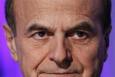 Il leader del partito democratico Pier Luigi Bersani. REUTERS/Giampiero Sposito