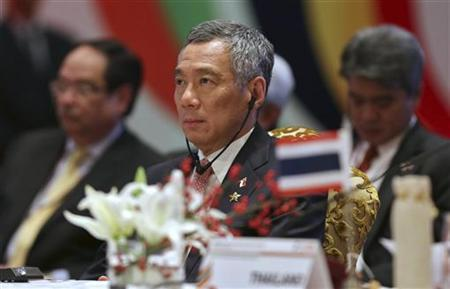Singapore's Prime Minister Lee Hsien Loong attends the plenary session of the ASEAN-India Commemorative Summit in New Delhi December 20, 2012. REUTERS/Adnan Abidi
