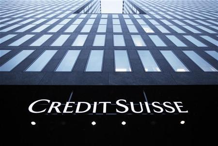 A logo of Swiss bank Credit Suisse is seen on a building in Zurich, January 15, 2013. REUTERS/Michael Buholzer