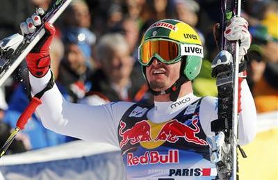 Alpine skiing: Italy's Paris wins Hahnenkamm downhill