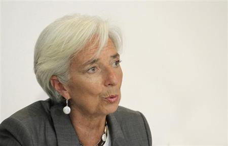 International Monetary Fund chief Christine Lagarde speaks during a news conference at a hotel in Cocody, Abidjan January 8, 2013. REUTERS/ Thierry Gouegnon