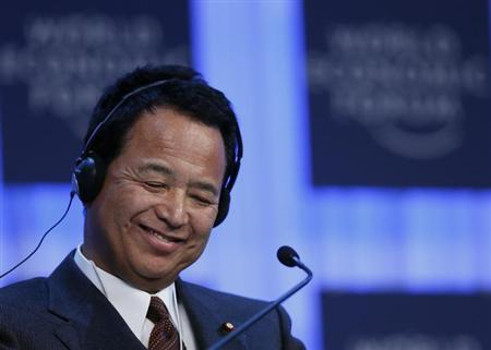 Japan's Economic Revival Minister Akira Amari attends the annual meeting of the World Economic Forum (WEF) in Davos January 26, 2013. REUTERS/Pascal Lauener