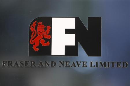 A logo of Fraser and Neave Limited is pictured at its office building in Singapore January 21, 2013. REUTERS/Edgar Su