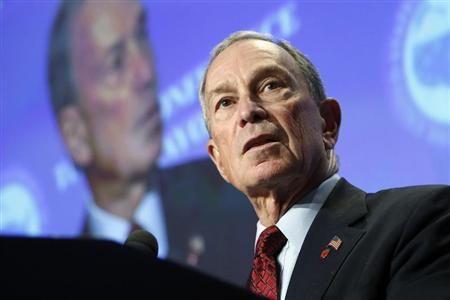 New York City Mayor Michael Bloomberg makes remarks on curbing gun violence to the U.S. Conference of Mayors winter meeting in Washington, January 18, 2013. REUTERS/Jonathan Ernst