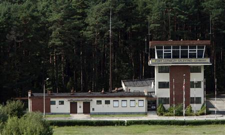 A watchtower of an airport in Szymany, close to Szczytno in northeastern Poland, is seen in this aerial view file picture taken September 9, 2008. REUTERS/Kacper Pempel/Files