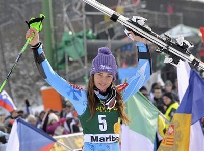 Alpine skiing: Leader Maze triumphs on home snow