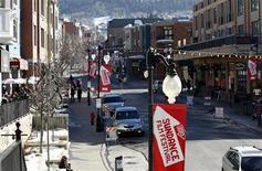 """El drama """"Fruitvale"""" y el documental """"Blood Brother"""", ganaron el sábado los principales premios en el Festival de Cine de Sundance, recibiendo un gran impulso para llegar a las audiencias de cine independiente de este año. en la imagen, la calle principal de Park City donde se celebra el festival en Utah, el 22 de enero de 2013. REUTERS/Mario Anzuoni"""