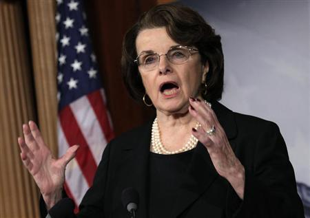Senate Intelligence Committee Chairman Senator Dianne Feinstein (D-CA) speaks to the media on NRA/assault weapons on Capitol Hill in Washington, December 21, 2012. REUTERS/Yuri Gripas