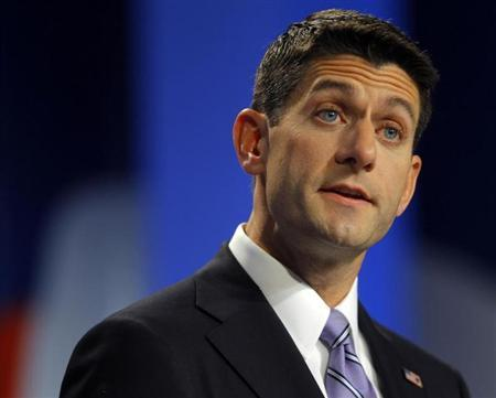 Republican Vice-Presidential candidate and Wisconsin representative Paul Ryan (R-WI) speaks at the Values Voter Summit in Washington September 14, 2012. REUTERS/Gary Cameron