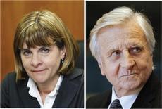 """Le PDG d'EADS propose la nomination d'Anne Lauvergeon et Jean-Claude Trichet, anciens patrons d'Areva et de la Banque centrale européenne, au conseil d'administration du groupe, a annoncé le ministère français de l'Economie, qui compte approuver """"dans les prochains jours."""" /Photos d'archives/REUTERS/Issei Kato/Sébastien Pirlet"""