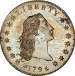 1月24日、米ニューヨークで行われたオークションで、1794年の銀貨が1000万ドル(9億1000万円)で落札され、硬貨の落札価格として過去最高を記録した。提供写真(2013年 ロイター/Stack's Bowers Galleries)