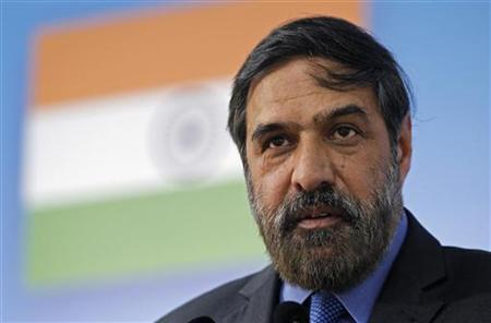 Trade Minister Anand Sharma delivers a speech during an EU-India Business Summit at the Egmont Palace in Brussels December 10, 2010. REUTERS/Francois Lenoir/Files