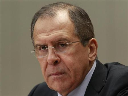 Russian Foreign Minister Sergei Lavrov speaks during an annual news conference in Moscow January 23, 2013. REUTERS/Sergei Karpukhin