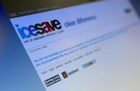 The homepage of icesave online bank is seen on a computer screen, in London October 7, 2008. REUTERS/Dylan Martinez