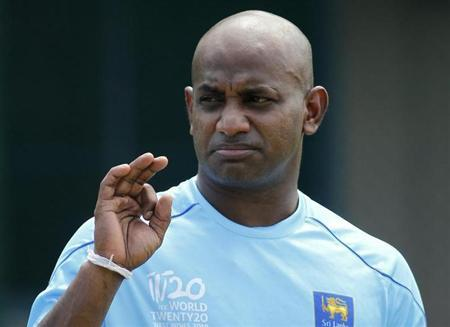Sri Lanka's cricketer Sanath Jayasuriya reacts as he arrives at a practice session ahead of the T20 tour of England, in Colombo June 10, 2011. REUTERS/Dinuka Liyanawatte