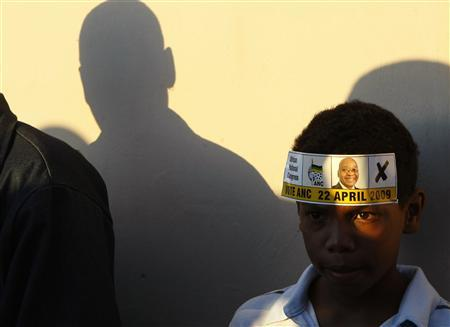Supporters of ruling African National Congress (ANC) President Jacob Zuma await the arrival of ANC Youth League President Julius Malema at an election campaign event in Cape Town's Mitchells' Plain township, in this April 14, 2009 file photo. A study by the South African Institute of Race Relations said about half of today's youth faced a lifetime of unemployment. The born frees have been described as a ticking time bomb, needing massive social grants that could bankrupt the country, if the tide is not turned on unemployment. But if the power of the generation is harnessed, it could pay an enormous demographic dividend. To match Analysis SAFRICA-ANC/ REUTERS/Mike Hutchings/Files