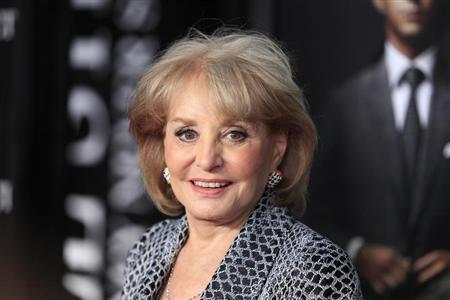 Television personality Barbara Walters arrives for the premiere of the film ''Wall Street: Money Never Sleeps'' in New York September 20, 2010. REUTERS/Lucas Jackson