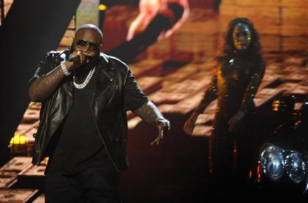 Rick Ross performs at the 2012 BET Awards in Los Angeles on July 1, 2012. REUTERS/Phil McCarten/Files