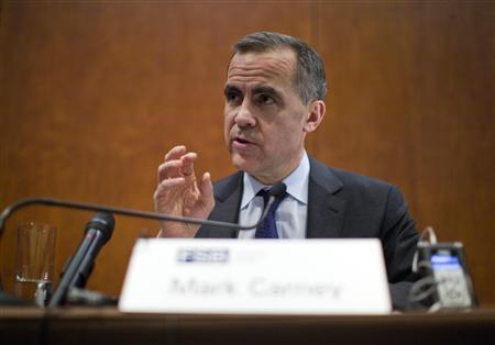 Mark Carney, Bank of Canada Governor and chairman of the Financial Stability Board speaks during a news conference after a Financial Stability Board plenary meeting in Zurich, January 28, 2013. REUTERS/Michael Buholzer