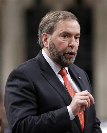 New Democratic Party leader Thomas Mulcair speaks during Question Period in the House of Commons on Parliament Hill in Ottawa January 28, 2013. REUTERS/Chris Wattie