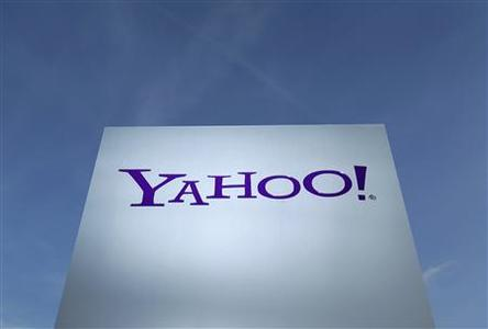 A Yahoo logo is pictured in Rolle, 30 km (19 miles) east of Geneva in this file photo taken December 12, 2012. REUTERS/Denis Balibouse/Files
