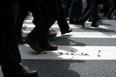 Trois syndicats de fonctionnaires (CGT, FSU et Solidaires) appellent à une journée de grève et de manifestations jeudi pour protester contre les suppressions de postes et défendre leur pouvoir d'achat. /Photo d'archives/REUTERS/Christine Grunnet
